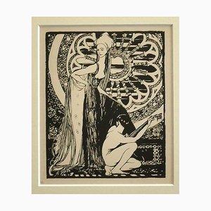 Giovanni Guerrini, Minstrel, Lithograph, 1930 ca.