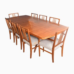 Rosewood Dining Table & Chairs from Gordon Russell, Set of 9