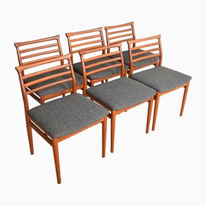 Erling Torvits Teak Dining Chairs by Erling Torvits, Set of 6