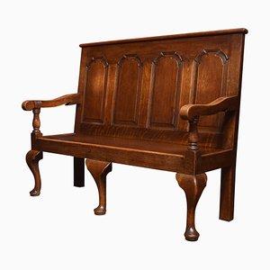 George III Sitzbank aus Eiche