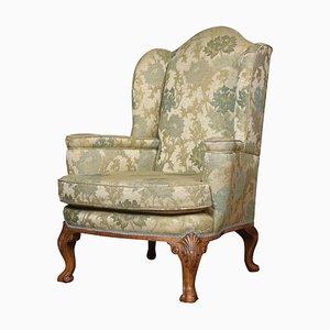 Queen Ann Style Wing Armchair