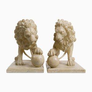 Löwenskulpturen, 2er Set