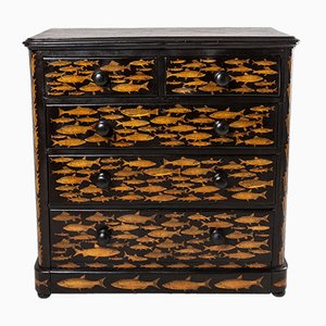 Victorian Decoupage Chest of Drawers
