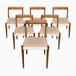 German Rosewood Dining Chairs from Lübke, Set of 6, 1970s