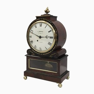 English George IV Mahogany Bracket Clock by L.Marks, 1825