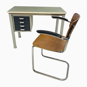 Vintage 208 Desk Chairs by André Cordemeyer / Dick Cordemeijer for Gispen, Set of 2, 1960s