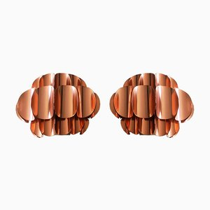 Copper Wall Lights by Thorsten Orrling for Temde, 1960s, Set of 2