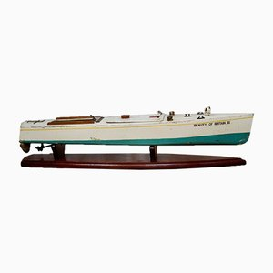 Bassett Lowke Model Motor Boat by Bing British, 1932