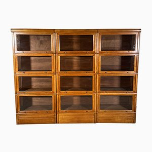20th Century Oak Stacking Bookcases, Set of 3