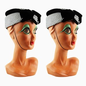 Twiggy with Original Hat 1960s, Set of 2