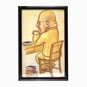 Der Professor, Karikatur