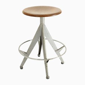 Industrial Stool with Adjustable Seat, 1960s