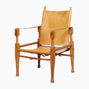 Schweizer Safari Armlehnstuhl von Wilhelm Kienzle für Wohnbedarf, 1950er