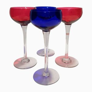 Wine Glasses from Cristallerie de Nancy, 1930s, Set of 4