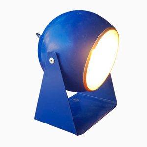 Italienische Vintage Verstellbare Blaue Tischlampe, 1960er