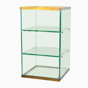 Exhibition Display Cabinet with Two Glass Shelves, 1950s