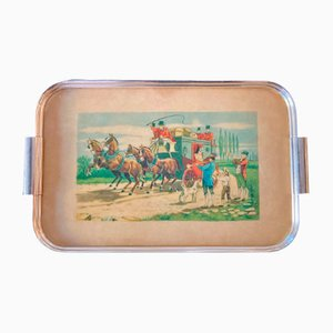 Tray with Hunting Scene, 1950s