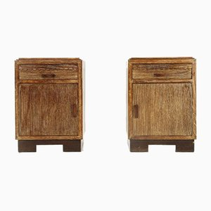 Bedside Tables with Marble Top, 1930s, Set of 2