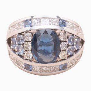 Big Blue Sapphire Ring, 1990s