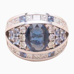 Großer Blauer Saphir Ring, 1990er