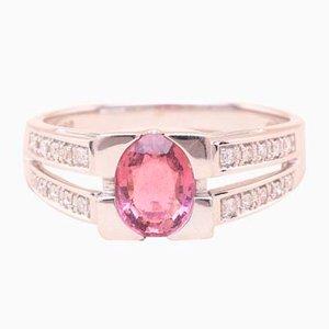 Pink Tourmaline Ring, 1990s