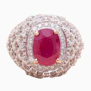 Lace Ruby Ring, 1990s