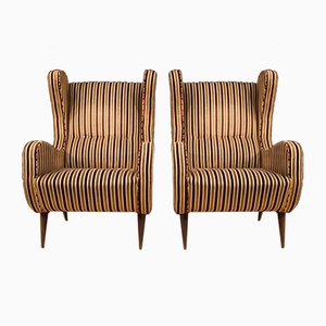 Italian Zanuso Style Armchairs, 1960s, Set of 2