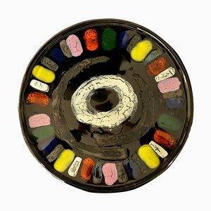 Glasierter Keramik Teller, 1950er