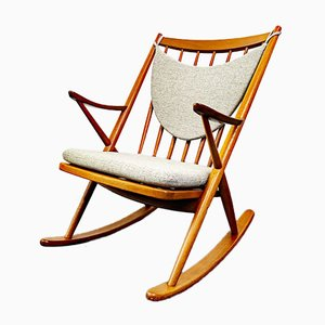 Teak Rocking Chair by Frank Reenskaug for Bramin, Denmark, 1960s