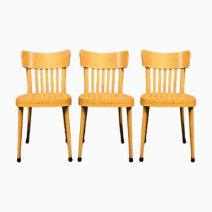 Wooden Dining Chairs from Erco, 1960s, Set of 3