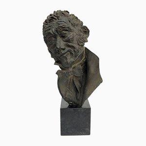 Alessandro Manzoni, Bronze Bust, Dora Bassi, 1970