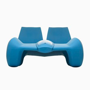 DC 111 Double Chaise Longue Color Sky Bleu by Atelier Jungblut