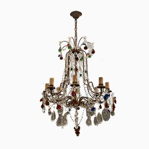 Vintage Murano Glass Fruit Chandelier, 1950s