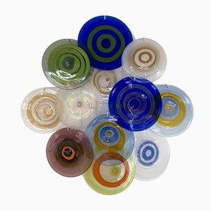Italienische Murano Glas Wandleuchten von Gianmaria Potenza für La Murrina, 1970er, 2er Set