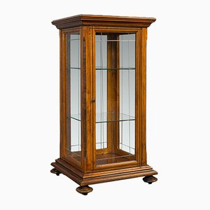 Antique English Shop Display Cabinet, 1910