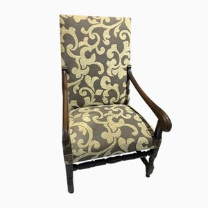 Louis XIII Walnut Armchair