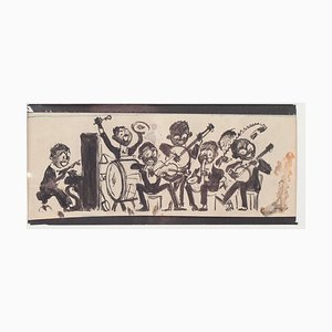Willem Van Hasselt, Musicians, China Mixed Media On Paper, 1930s