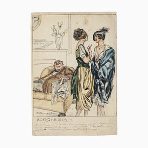 Luigi Bompard, Bourgeoisie, Aquarell, 1905