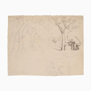 Marcel Mangin, Landscape, Pencil, Early 20th Century