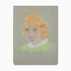 Manfredo Borsi, Porträt, Pastell, 20. Jahrhundert