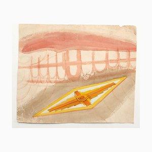 Jean-Raymond Delpech, Skizze, Bleistift & Aquarell, 20. Jahrhundert