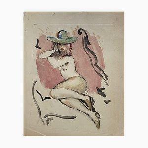 Akt, Lithographie, 1930er