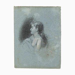 Ritratto, matita e pastello, inizio XX secolo