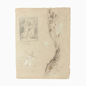 Figures, Pencil, Early 20th Century