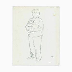 Jacques Hirtz, Studies of Figures, Pencil, 20th Century