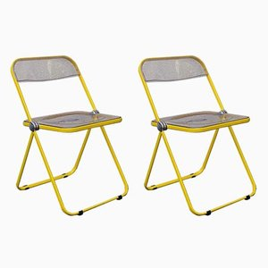Plia Folding Chairs by Giancarlo Piretti for Castles, 1960s, Set of 2