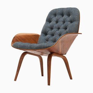 Mrs Walnut & Plywood Lounge Chair by George Mulhauser by Plycraft
