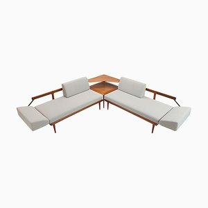 Model FD451 Daybed or Sofa with Cane Panels by Peter Hvidt & Orla Molgaard