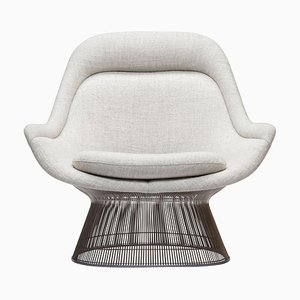 Wire Series Easy Chair with Knoll Fabric by Warren Platner for Knoll