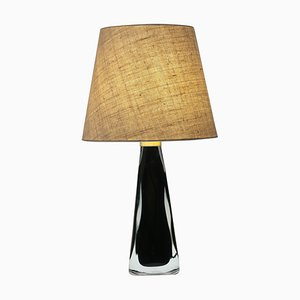 Vintage Black Underfång Table Lamp by Carl Fagerlund for Orrefors